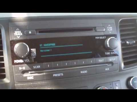 How to set up bluetooth on 2012 Toyota Sienna