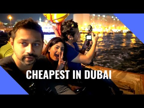 Cheapest thing to do in Dubai | Ft. Mumbiker Nikhil | Dubai gold Souq , Abra ride and al seef