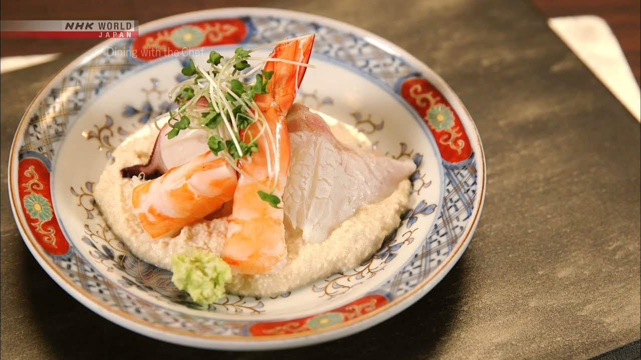 Photo of Chef Saito's Blanched Sashimi with Shira-ae Sauce [Japanese Cooking] – Dining with the Chef – video