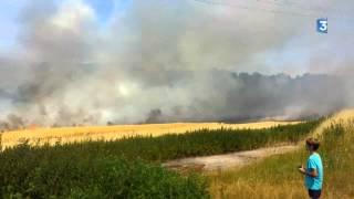 Eure : feux dans des champs