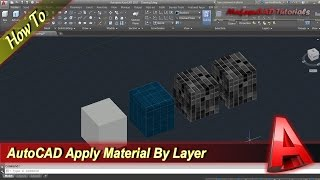 Autocad How To Apply Material By Layer