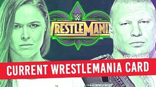 Current Card For WrestleMania 34