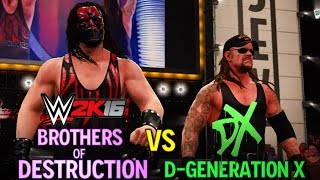 WWE 2K16: Brothers of Destruction vs DX - Extreme Rules (5 star match)