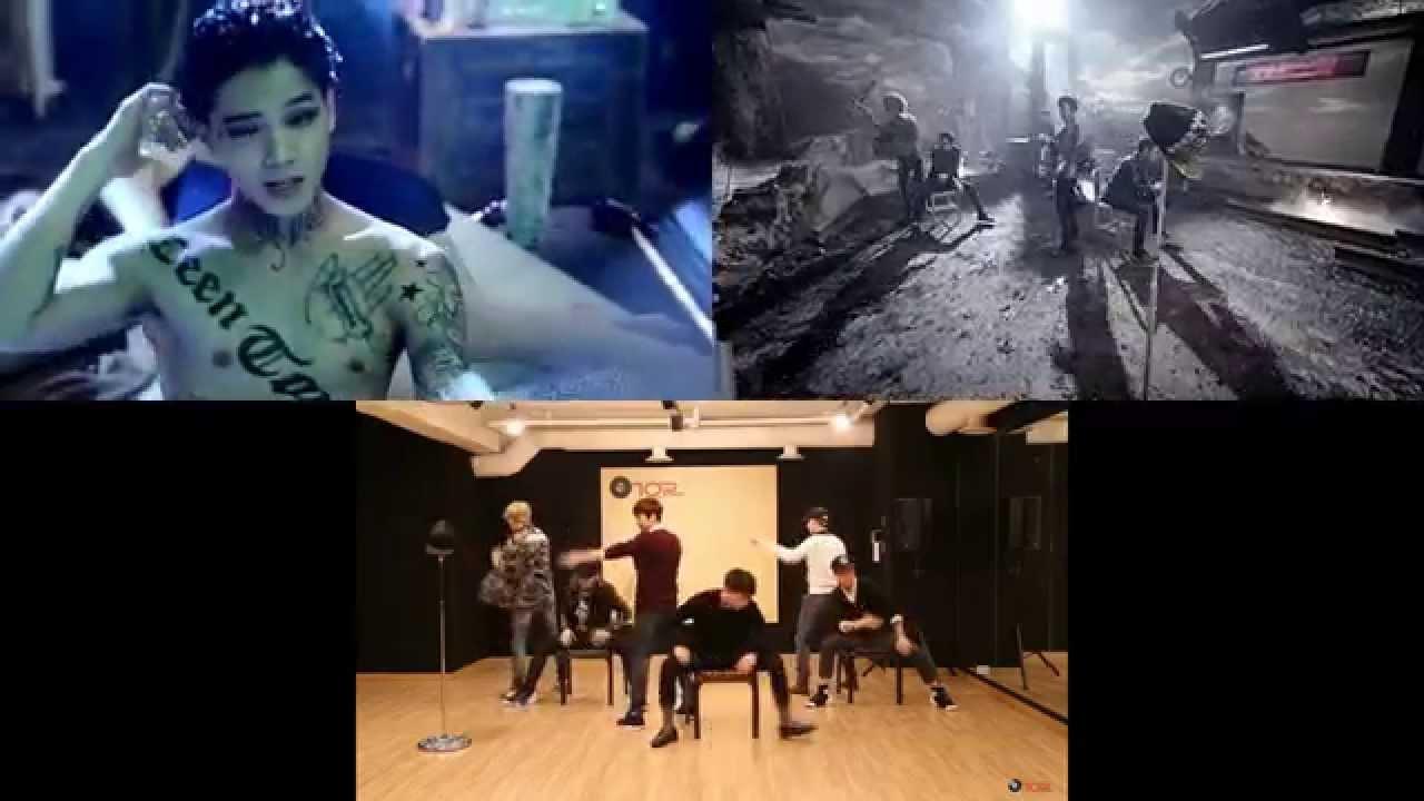 TEEN TOP - Missing Split screen (MV Ver 1 & 2 & Practice Video)