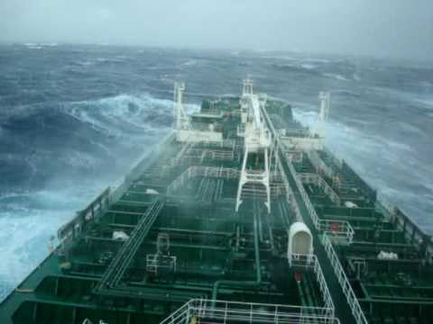 Storm in Bay of Biscay-Latvian crew.wmv
