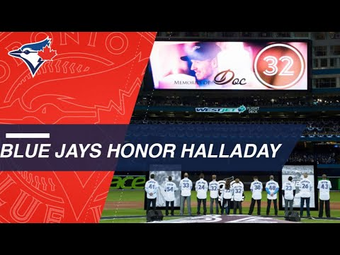 Blue Jays remember Roy Halladay on Opening Day