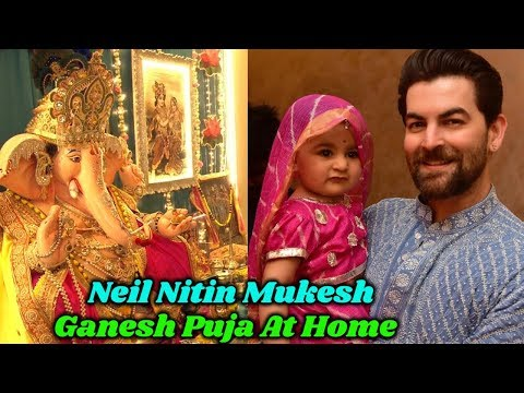 Neil Nitin Mukesh Ganesh Puja at Home with Cute Baby Mp3