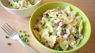 Recipe: Bow-ties With Peas And Ham