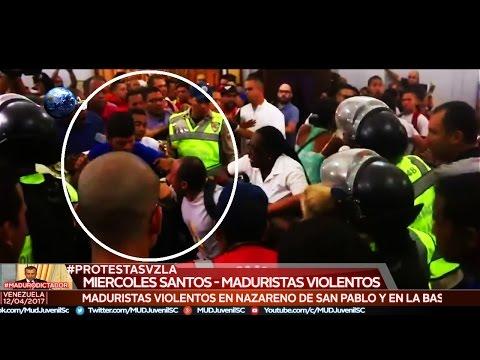 【VIDEO COMPLETO】Enfrentamiento en Nazareno de San Pablo y Basílica de Santa Teresa