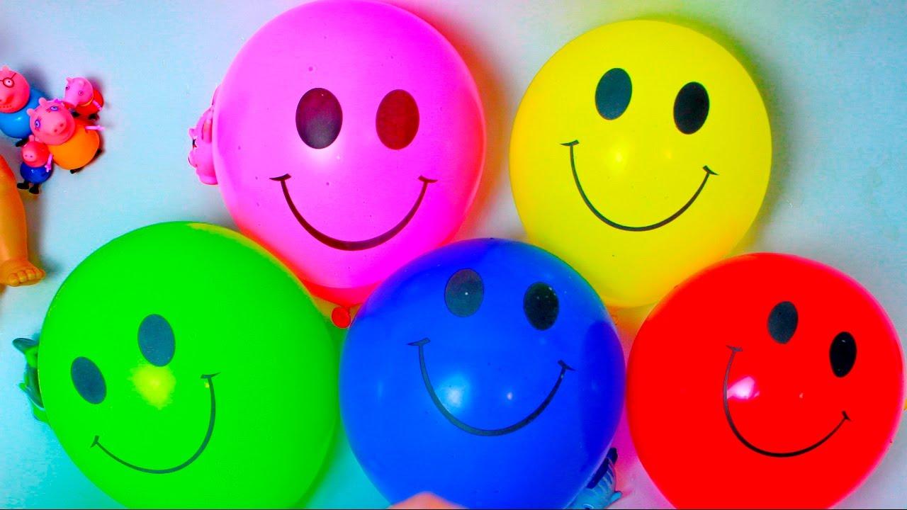 Развивающее видео для детей Лопаем воздушные шарики с ...