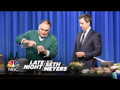 José Andrés and Seth Make Thanksgiving Margaritas and Guacamole