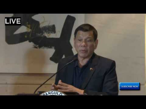"Philippines President Rodrigo Duterte Holds News Conference in China ""I Will Resign"" Oct 19, 2016"