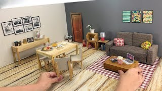 DollHouse Living Room for Barbie Doll - Hacks And Crafts - DIY Miniature