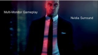 Hitman Absolution (3 monitors) w Nvidia Surround! See What Your Missing! GTX 660 (1080p video)
