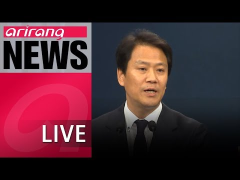 [LIVE/NEWSCENTER] S. Korea's chair of 2018 Inter-Korean Summit Prep Committee briefs press with...