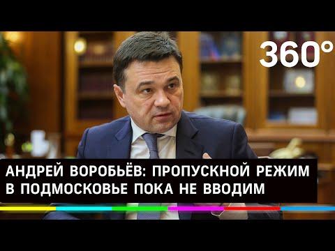 Воробьёв: ситуация с коронавирусом не требует пропускного режима в Подмосковье