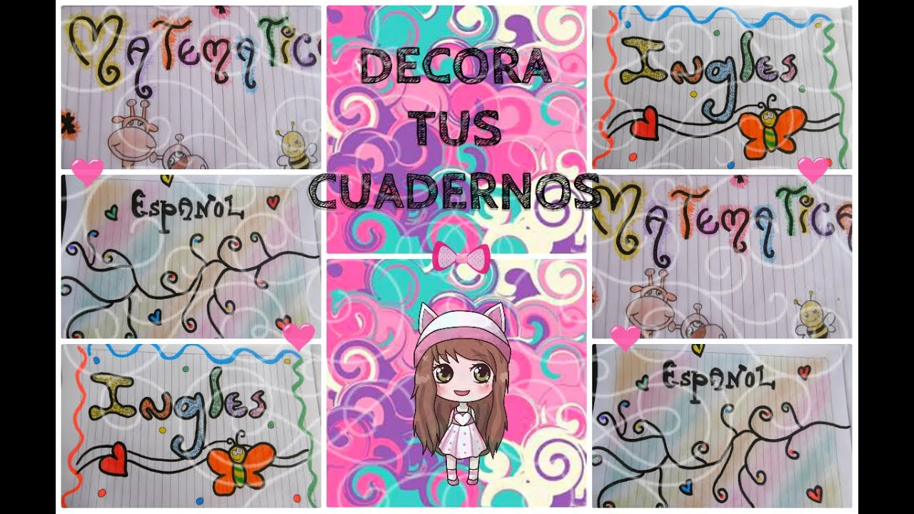 Decora tus cuadernos 3 ideas lulu99 youtube - Decora tus fotos gratis ...