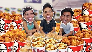 ENTIRE KFC MENU IN 10 MIN! (ft. Wassabi Productions)