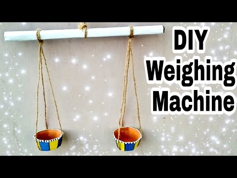 DIY Weighing scale for project    Diya Weighing machine making idea by VK's ART HOUSE