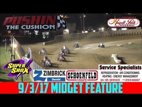 Angell Park Speedway - 9/3/17 - Midgets - Feature