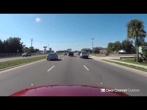 Billboard Video Ride: Digital Bulletin #609: SR 580 and Memorial Hwy