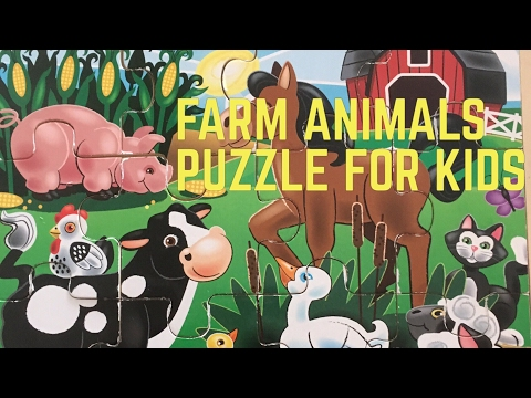 Farm Animals Puzzle For Kids | Melissa And Doug On The Farm 12 Piece Puzzle!