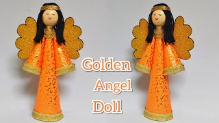 Gold & Silver Christmas Angel | Easy Paper Doll Making | Unique Craft | By Punekar Sneha