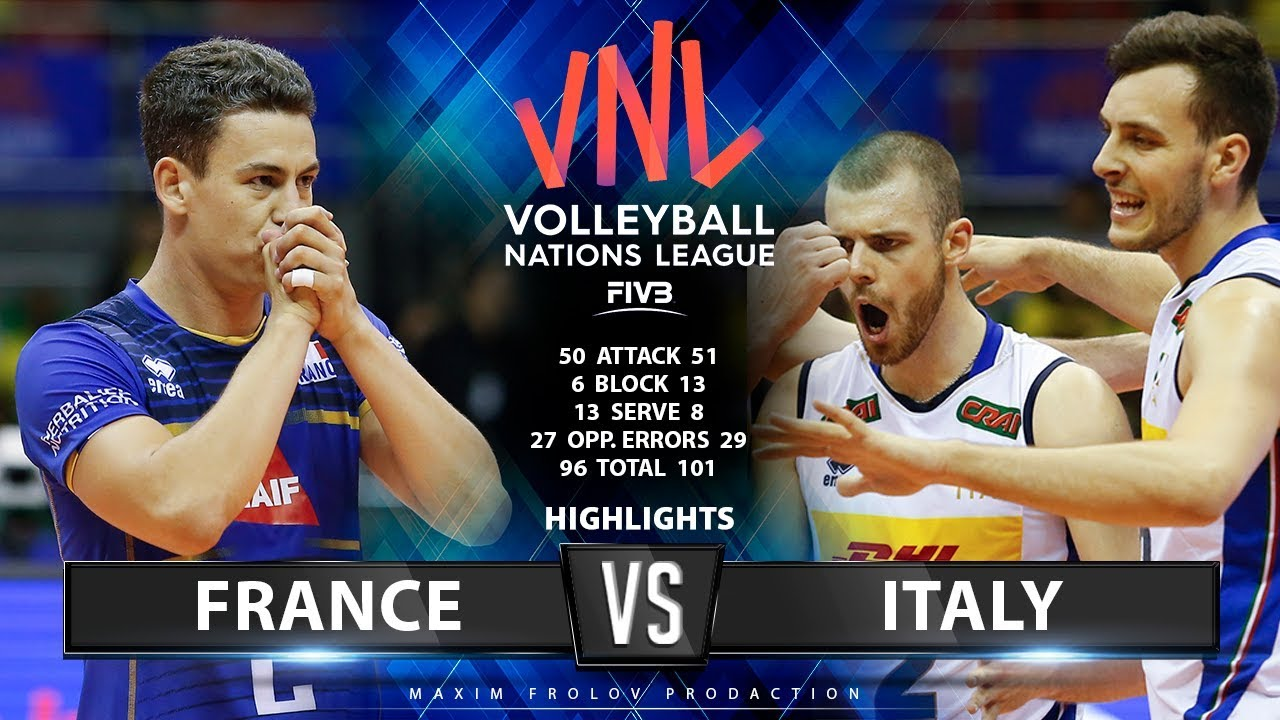 France vs Italy | Highlights Men's VNL 2019