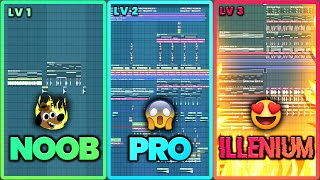 3 Levels of Future Bass - NOOB vs PRO vs ILLENIUM