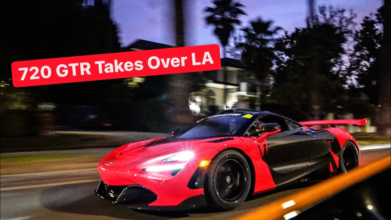 SLAYING TIRES WITH THE 720 GTR IN LOS ANGELES! *1000 HP*