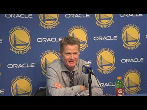 JaVale McGee explained his injury hilariously to Steve Kerr