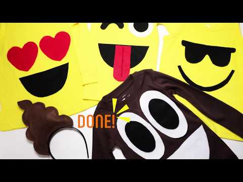 a2880fad7d1 How-To: Kids Emoji Costume DIY (No Sewing Required!) - YouTube