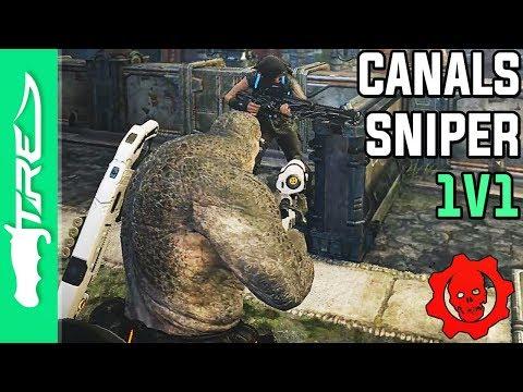 LEGENDARY CANALS SNIPER 1V1 AGAINST LANDAN! - Gears of War 4 Multiplayer Gameplay w/ LANDAN (GOW4)