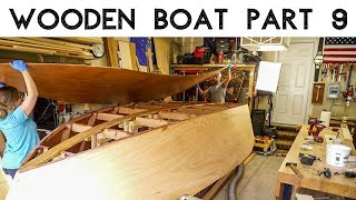 Wooden Boat Build // Part 9: Installing The Bottom!