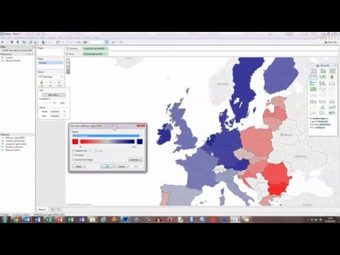 How To... Create a Basic Filled Map in Tableau