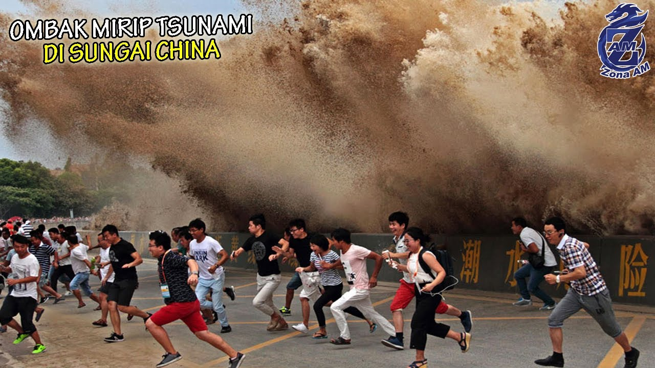 Download Air Sungai China ini Tiba-Tiba Naik Mirip T5UN4MI, Ratusan Wisatawan Paniq Berhamburan