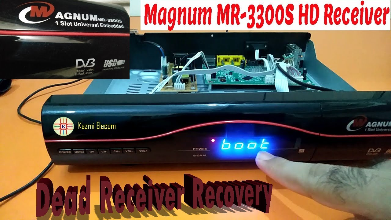 Dead Receiver Magnum MR-3300S Recovery Procedure and Info  Step by Step  Guide in Urdu/Hindi