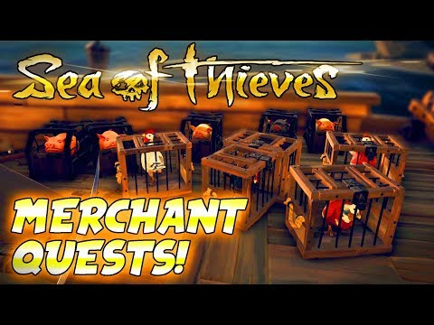 Sea of Thieves : MERCHANT QUESTS : Sea of Thieves Gameplay (PC Let's Play)