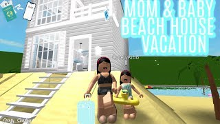 Mom & Baby Beach house VACATION II Roblox Bloxburg|