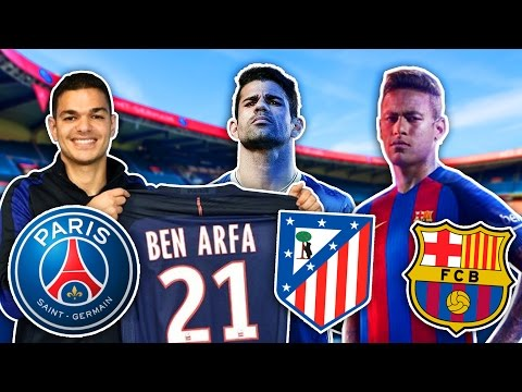 SUMMER TRANSFERS! - BEN ARFA SIGNS FOR PSG, DIEGO COSTA, NEYMAR & MORE! | FIFA 16 ULTIMATE TEAM