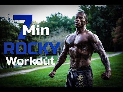 7 Min Super HIIT ROCKY work out - FULL BODY NO EQUIPMENT