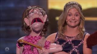 Darci Lynne with Simon Cowell & Edna The Puppet on AGT Champions