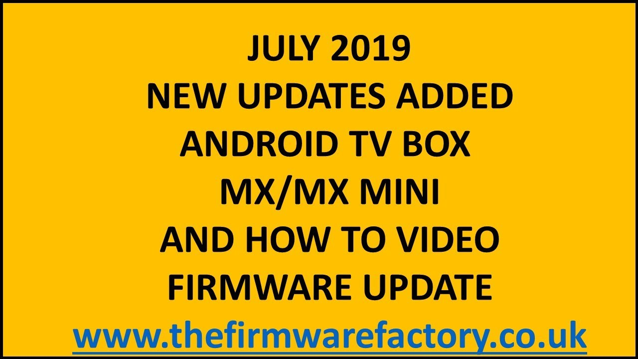 how to update mx box firmware