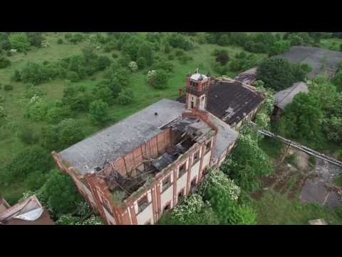 Drone footage abandoned furniture Factory Germany June 2016