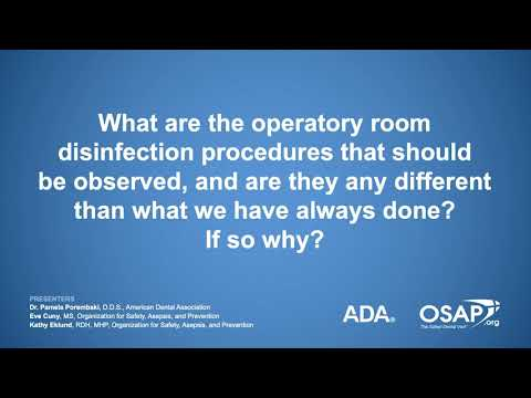 COVID-19: Infection Control Procedures For The Dental Operatory