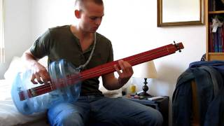 Black Sabbath - Ironman on home made bottle bass guitar