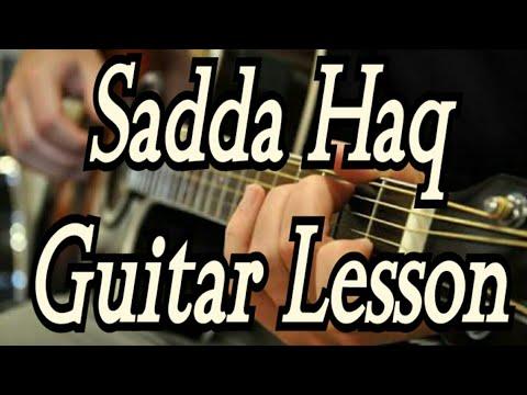 Sadda Haq Guitar Lesson/chords/cover | Rockstar | Ranbir Kapoor | Mohit Chauhan | Easy guitar lesson
