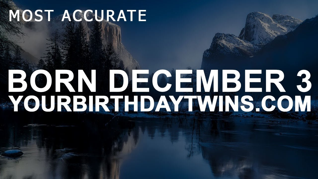 december 3 born astrology