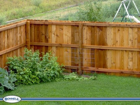 How To Install A Cedar Fence Part 1 Youtube