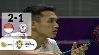 vuclip INA v TPE - Final Badminton Tunggal Putra: Jonatan Christie v Chou Tienchen | Asian Games 2018